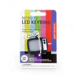 Sleutelhanger Led licht en geluid Retro TV