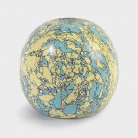Kandelaar Marmer Geel en Turquoise