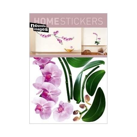 Muursticker Roze Orchidee