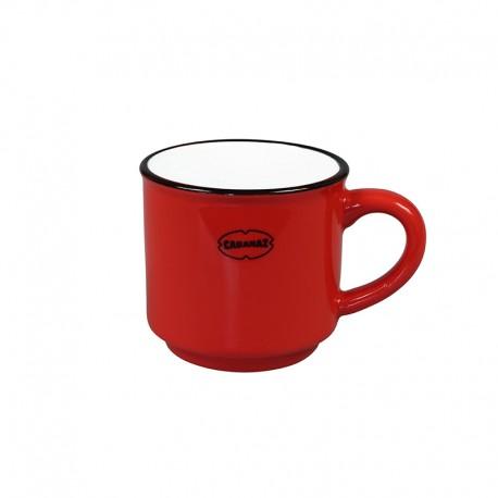 Cabanaz Espresso Mok Keramiek Rood