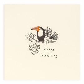 Dubbele kaart Happy Birthday Toucan