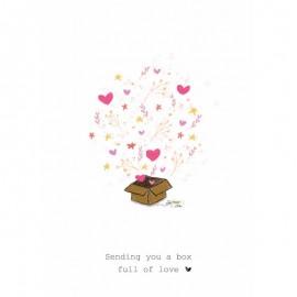 Dubbele kaart Sending you a box full of Love