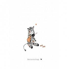 Dubbele kaart Some Love - Zebra