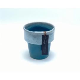 Bloempot Toscane Donker Blauw 1-2