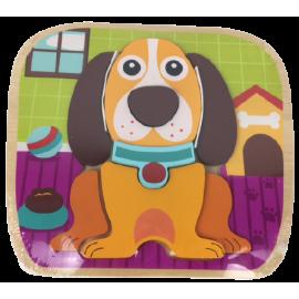 Houten Puzzel Joueco Hond