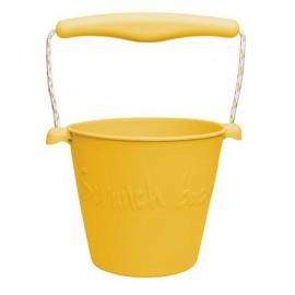 Scrunch Opvouwbare Emmer geel
