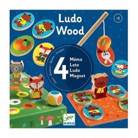 Djeco Spellendoos 4 houten spellen