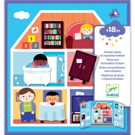 Djeco Herplakbare stickers Huis