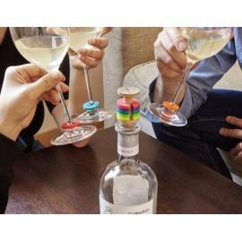 Regenboog Glazenmarkeerders met kurkstopper