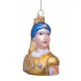 Kerstbal Vermeer Meisje met de Parel Gevaccineerd