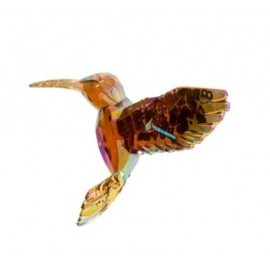 Kerstbal Kolibrie Bruin