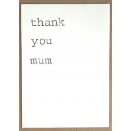 Enkele Kaart Thank you Mum
