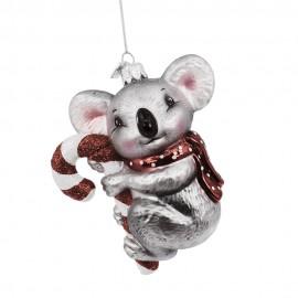 Kerstbal Koala met zuurstok