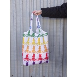 Opvouwbare tas Nijntje Regenboog Fiets