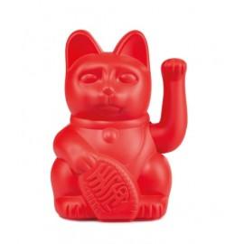 Lucky Cat- Zwaaiende Kat Rood