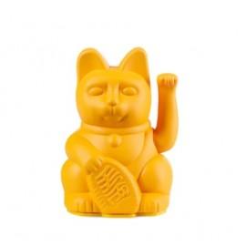 Lucky Cat- Zwaaiende Kat Donkergeel Mini