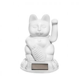 Lucky Cat- Zwaaiende Kat Solar Wit