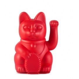 Lucky Cat- Zwaaiende Kat Rood met stickers