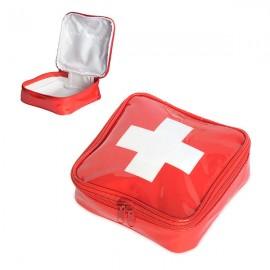 Medicijntasje rood met wit kruis