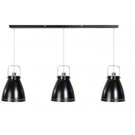 ETH Retro Hanglamp Acate 3 spot Balk zwart/chroom