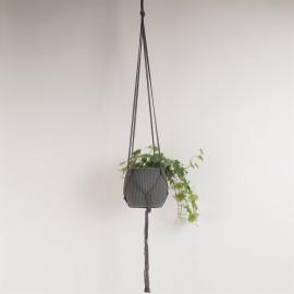 Grey Plant hanger 100% cotton L120 cm.