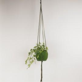 Army Green Plant hanger 100% cotton L120 cm.
