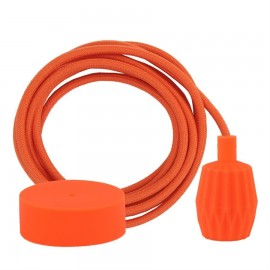 Cable Dusty Deep orange 3 m. w/orange Plisse