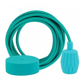 Cable Dusty Turquoise 3 m. w/turquoise Plisse