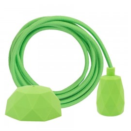 Cable Dusty Lime green 3 m. w/lime green Facet