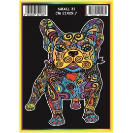 Vilten Kleurplaat  Franse Bulldog