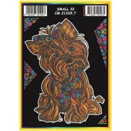 Vilten Kleurplaat Yorkshire Terrier