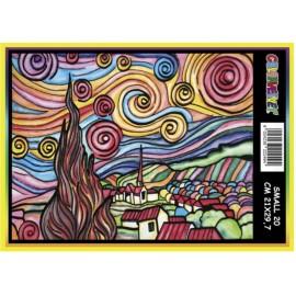 Vilten Kleurplaat van Gogh Sterrennacht