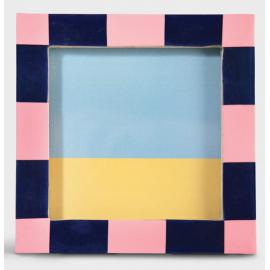 Fotolijst Check Vierkant Roze Blauw