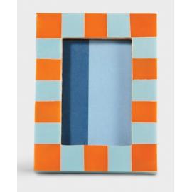 Fotolijst Check Vierkant Oranje