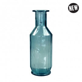 Faceta Decanter 1.1l recycled glass Blauw