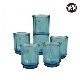 Faceta Tumbler Set van 6 Blauw