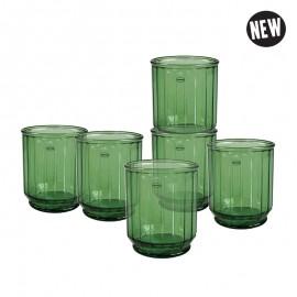 Faceta Tumbler Set van 6 Groen