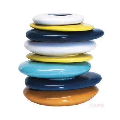 Vaas Gekleurde Kiezelstenen  20 Kare Design