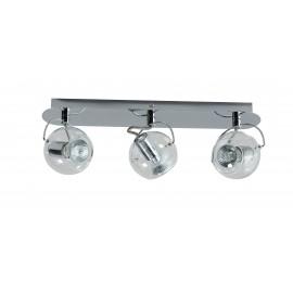 Plafond/Wandlamp VETRO trendy en retro 3 Spots Balk