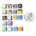 Magneet Apps set van 18