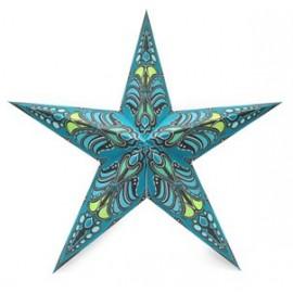 Papieren Kerstster Jaipur Turquoise