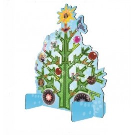 Wenskaart pop out card Kerstboom