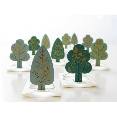 Mini pop-up bomenkaartjes Forest Jurianne Matter