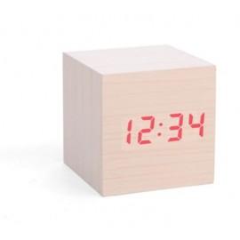 Wekker hout Cube Kikkerland