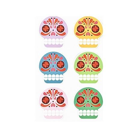 Sugar Skull Magneten set van 6