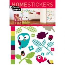 Home Stickers for Kids. Vogel verstophuisje