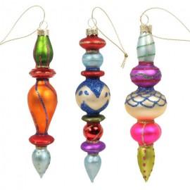 Set van 3 Glazen Kerstboom Hangers