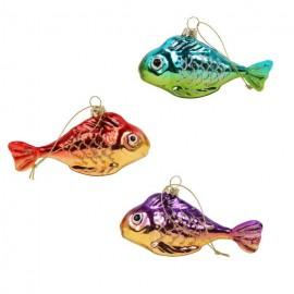 Set van 3 Kerstbal Vissen