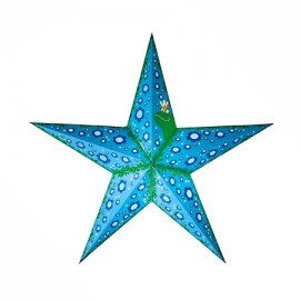 Papieren Kerstster Pretty Princes Lichtblauw