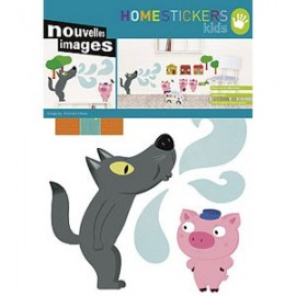 Home Stickers for Kids. Drie Kieine Varkentjes